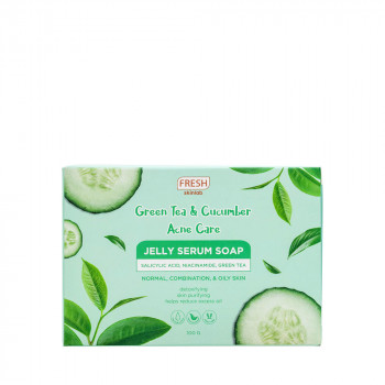 FRESH SKINLAB GREEN TEA AND CUCUMBER ACNE CARE JELLY SERUM SOAP 100G