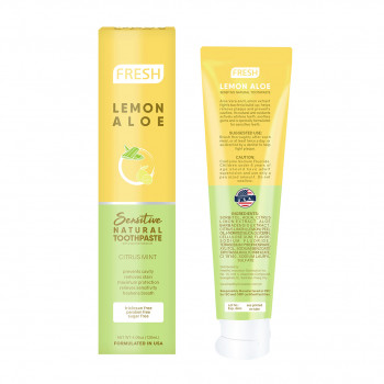 Fresh Lemon Aloe Sensitive Natural Toothpaste (120ml)