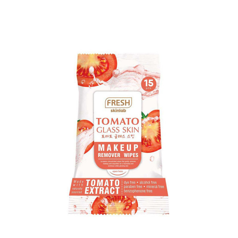 Fresh Skinlab Tomato Glass Skin Makeup Remover Wipes