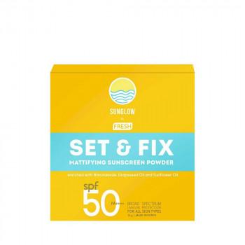 Sunglow by Fresh Set & Fix Mattifying Sunscreen Powder